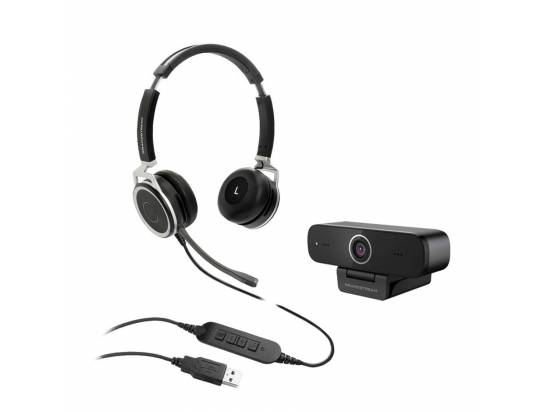 Grandstream GUV3100 HD USB Webcam w/GUV3005 Premium Headset Bundle