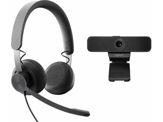 Logitech Zone USB Wired Headset with C925E Webcam Bundle - Microsoft Teams