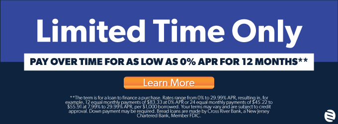 Pay Over Time As Low As 0% APR For 12 Months**