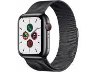 Apple Watch (Series 5) GPS + Cellular - 44mm - Space Black Stainless Steel - Grade A