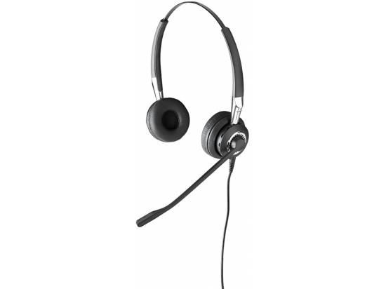 Jabra BIZ 2475 Binaural Duo Ultra-Noise Canceling Binaural Corded Headset - Grade A