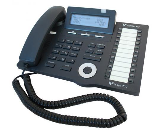 Vertical Edge 700 24-Button Black Digital Display Speakerphone