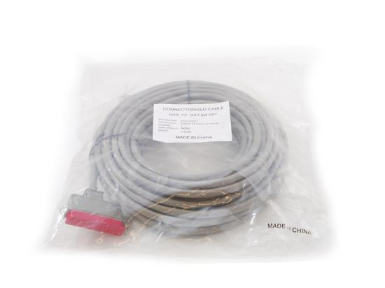 Telecom Cable Connectorized Cable 25PR F/F 50FT SW GRY