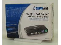 CablesToGo 35554 TruLink 2-Port KVM Switch