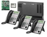 NEC SL1100 SIP Phone System w/ Voice Mail & 8 IP Phones