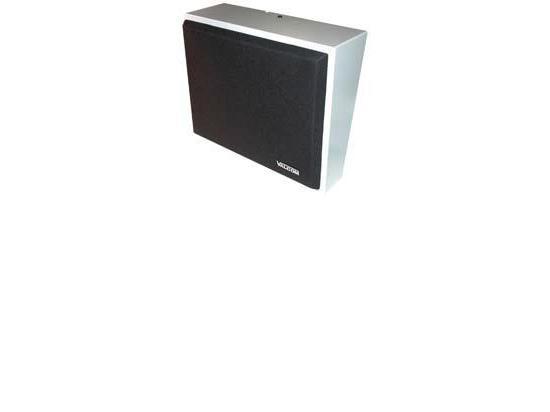 VALCOM 8in Amplified Wall Speaker, Metal, Black