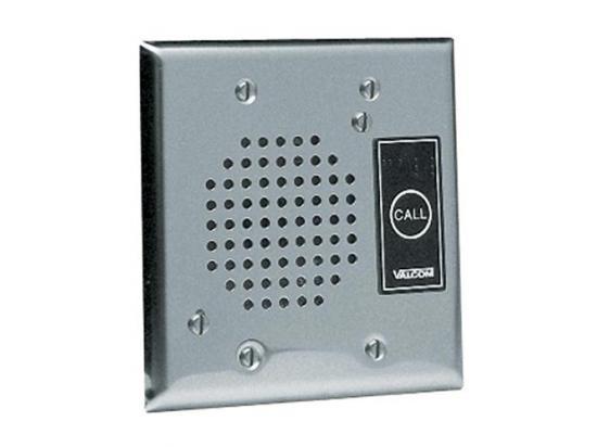 VALCOM Doorplate Spkr, Flush w/LED (Stainless)
