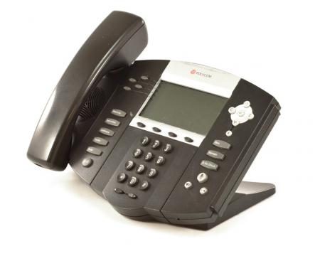 "Polycom SoundPoint IP 550 PoE Backlit Display Phone (2201-12550-025) ""C-Stock"""
