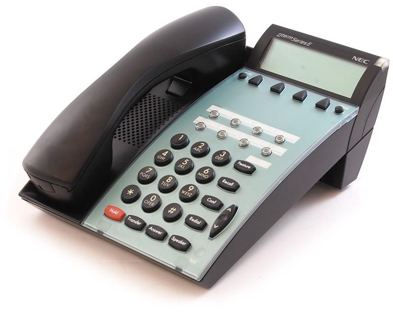 Lot of 4 nec dtu-8d-2(bk)tel phones black 770012 100% functional 1.