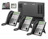 NEC SL1100  8x16 Phone System w/ Voice Mail & 6 Phones *NEW*