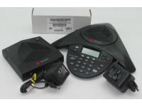 Polycom SoundStation 2W EX Black 12-Button Wireless Analog Display Conference Phone (2200-07800-001) Grade B