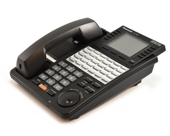 "Panasonic Digital Super Hybrid KX-T7436 Black Super Display Speaker Phone ""Grade B"""