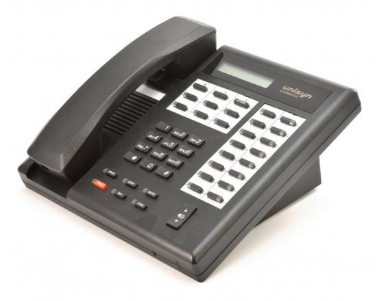 Comdial Unisyn 1022S-FB Flat Black Display Speakerphone