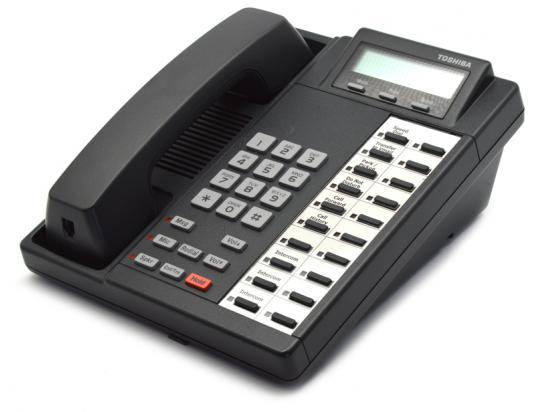 Toshiba Strata DKT2020-FDSP 20-Button Charcoal Full-Duplex Speaker Display Phone