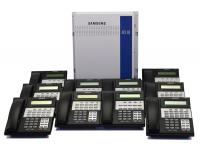 Samsung iDCS 100 6x16 Phone System w/ (10) Display Phones