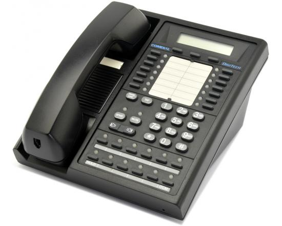 Comdial Digitech 7700S-FB 24-Button Black LCD Speakerphone