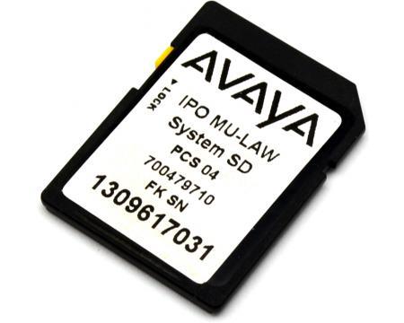 Avaya ipo ip500 v2 system sd card mu law