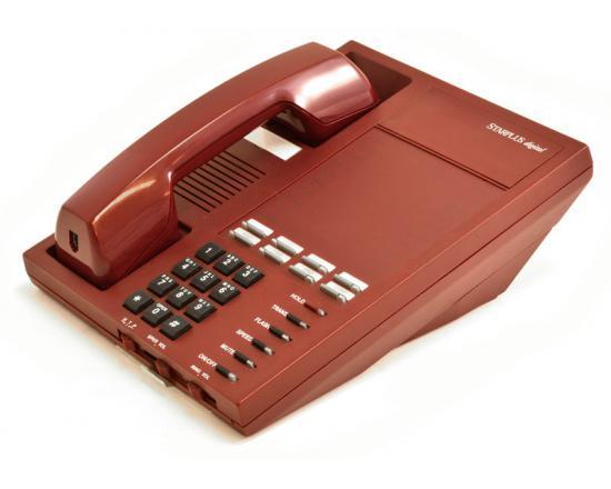 Vodavi Starplus Digital SP1411-60 Burgundy Analog Phone - Grade A
