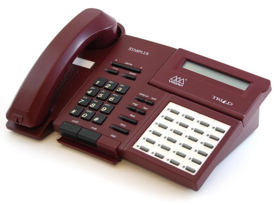 Vodavi Starplus Triad TR9015-60 24-Button Burgundy Digital Display Speakerphone - Grade A