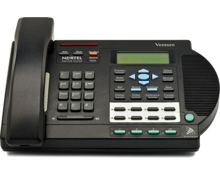 Venture DTAD Black 3-Line Phone w/Answering device (NT2N82AA)