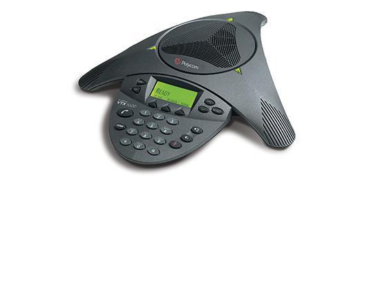 "Polycom SoundStation VTX 1000 Conference Phone w/ Power Module (2200-07300-001, 2201-07142-001) ""Grade B"""