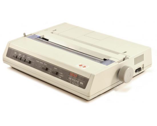 Okidata Microline 186 White USB Dot Matrix Printer (62422301) - Grade A