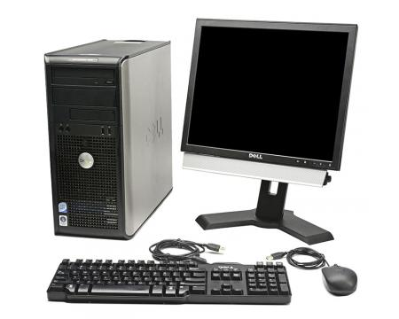 """Dell OptiPlex 755 Tower Intel Core 2 Duo 2.66 GHz 2GB DDR3 250GB HDD 17"""" LCD Complete Desktop System"""