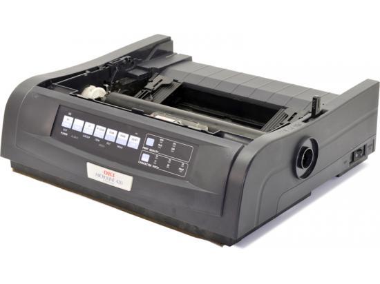 Okidata Microline 420 Parallel USB 9-Pin Dot Matrix Impact Printer (91909701) - Black