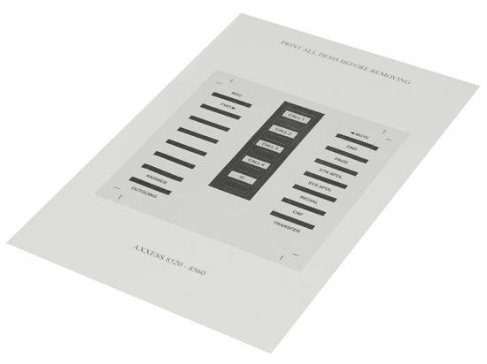 Inter-Tel 8520 & 8560 Paper DESI