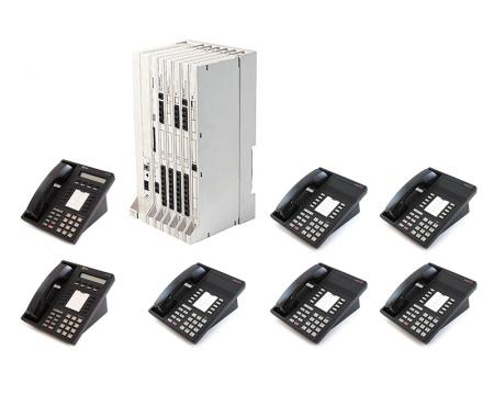Avaya Lucent Merlin Legend Phone System With 8 Phones