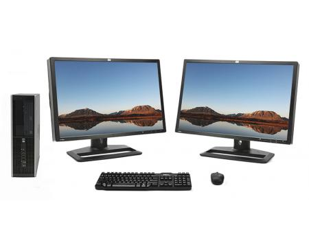 """HP 8300 Elite SFF Computer Intel Core i5 (i5-3570) 3.40GHz 4GB 250GB Complete System w/ 24"""" LCD Monitor"""