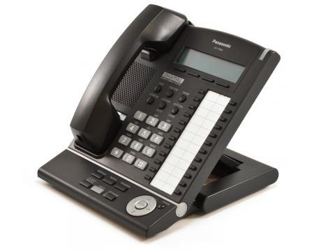 Panasonic KX-T7630-B 24 Button Digital Display Telephone Charcoal