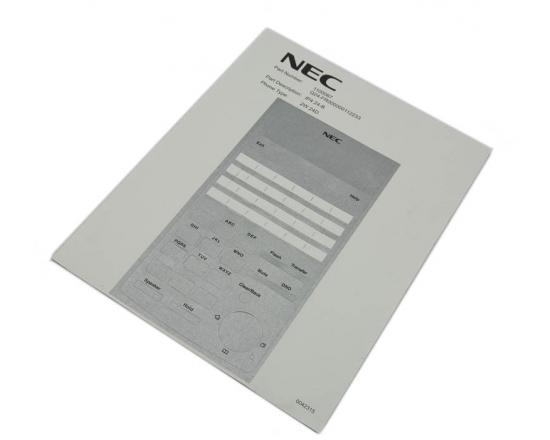 NEC SL1100 DESI SHEETS 24 BUTTON TELEPHONE New - 50 Pack