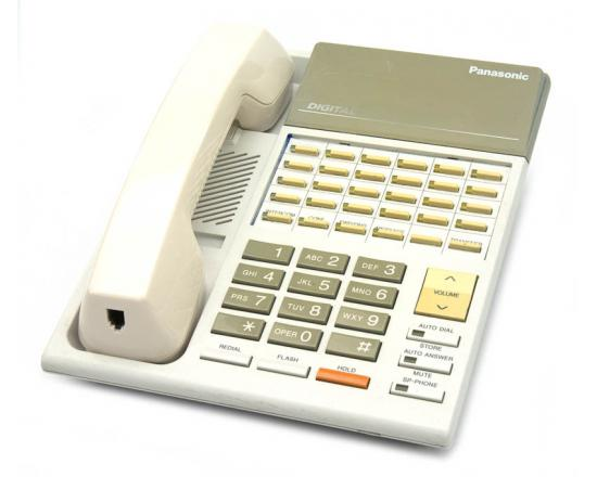 "Panasonic KX-T7220C White 24-Button Digital Speakerphone ""Grade B"""
