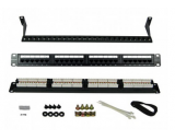 "Generic Cat6 24 Port Patch Panel 19"" 1u Rackmount"