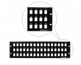 Generic Cat5e/Cat6 48 Ports 3-Row Snap-In Blank Patch Panel