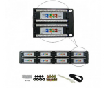 "Generic Cat5e 48 Ports Patch Panel 19"" 2u Rackmount"