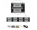 "Generic Cat5e 48 Ports Patch Panel 19"" 2u Rackmount *NEW*"