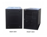 Generic 18u Wall Mount Cabinet with 2 Built-In Fans