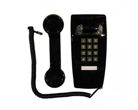 Single Line 2554 Black Analog Wall Phone