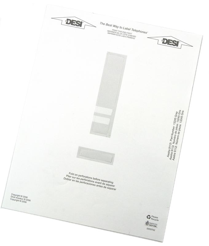 Aastra 9112i Paper Designation