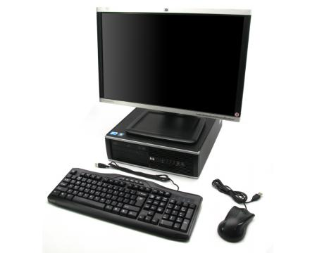"""HP 8100 Elite SFF Computer Intel Core i5 (i5-650) 3.2GHz 4GB 250GB Complete System with 22"""" LCD Monitor"""