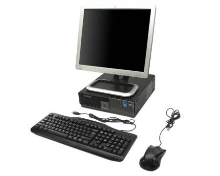 """Dell OptiPlex 980 SFF Intel Core i7 (i7-860) 2.8GHz 4GB 250GB Complete System with 17"""" LCD Monitor"""
