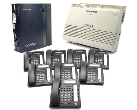Panasonic KX-TA824 Package with 8 Phones and Voicemail (TA824PACK8)