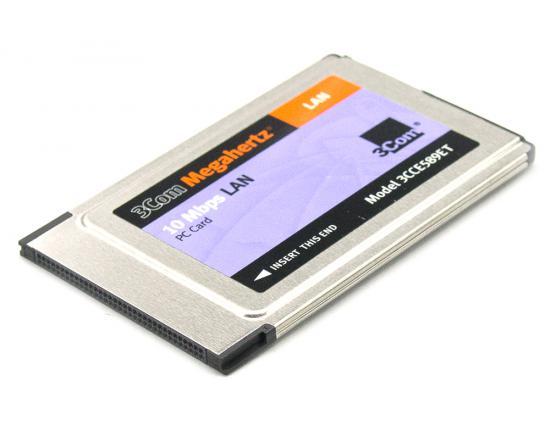 3Com Megahertz 3CCE589ET 1-Port 10Base Network PCMCIA Adapter Card