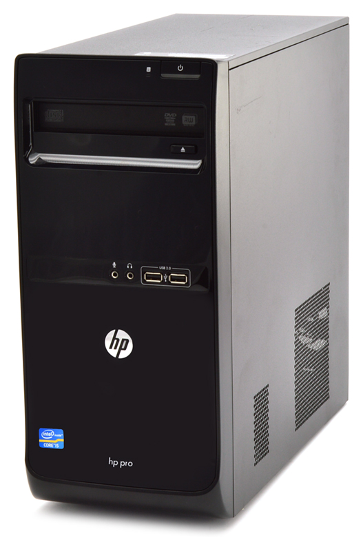 HP Pro 3500 Micro Tower Computer Intel Pentium (G2120) 3 10GHz 4GB DDR3  250GB HDD from PCLiquidations