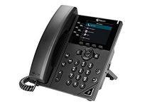 Polycom VVX 350 Black Gigabit IP Display Speakerphone - Microsoft Skype