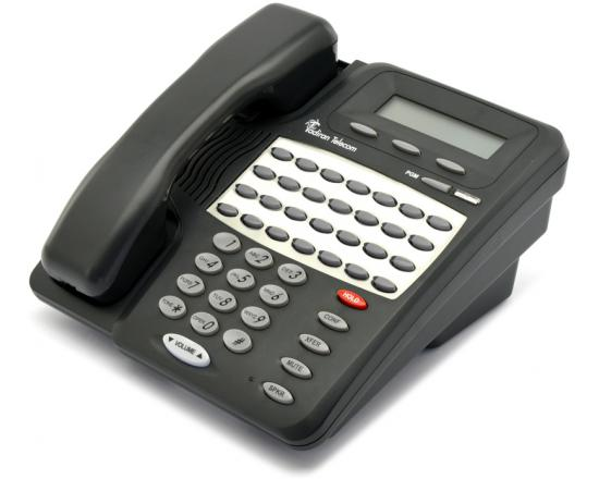 Tadiran Emerald Ice 28DLX/BL Backlit Charcoal Display Phone