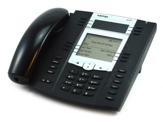 Aastra 6755i Black IP Backlit Display SpeakerPhone - Grade B