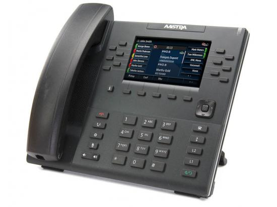 Aastra 6869i 12-Buttons Black Gigabit IP Display Speakerphone - Grade A